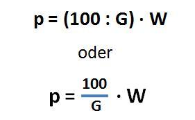 Formel Berechnung Prozentsatz